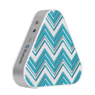 Modern Bright Turquoise Chevron Pattern Blueooth Speaker