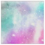 Modern bright watercolor pastel nebula paint fabric