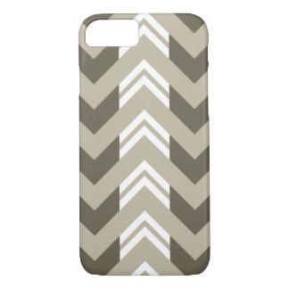 Modern Brown, Beige, White Chevron Pattern iPhone 7 Case