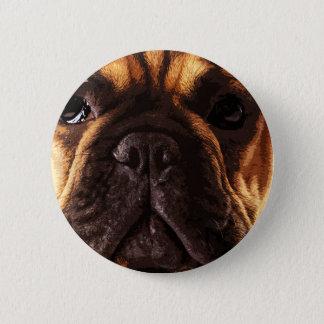modern brown big French Bulldog 2 Inch Round Button