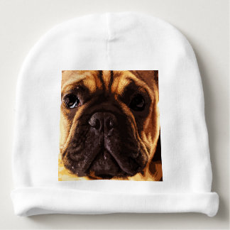 modern brown big French Bulldog Baby Beanie