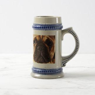 modern brown big French Bulldog Beer Stein
