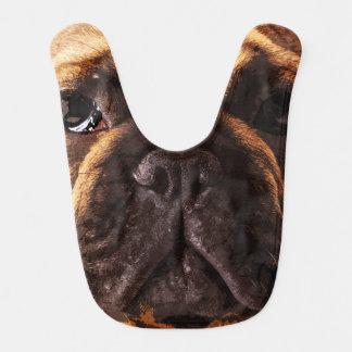 modern brown big French Bulldog Bib