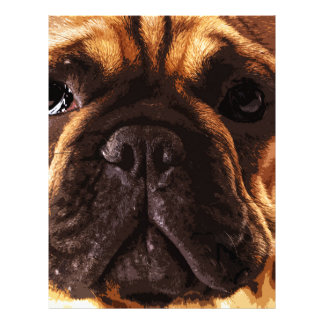 modern brown big French Bulldog Letterhead