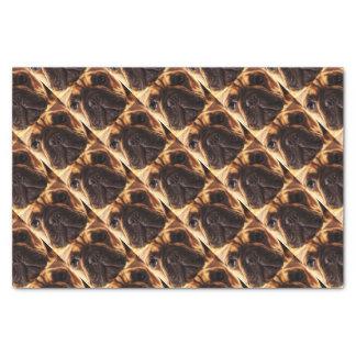 modern brown big French Bulldog Tissue Paper