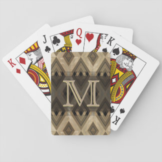 Modern Brown Diamond Pattern Playing Cards