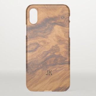 Modern Brown Faux Wood Background iPhone X Case
