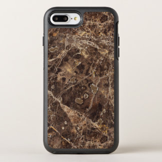 Modern Brown Marble Stone OtterBox Symmetry iPhone 8 Plus/7 Plus Case
