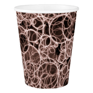 Modern Brown Pattern Paper Cup, 9 oz Paper Cup