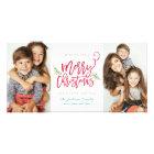 Modern Brush Script Christmas Holiday 2-Photo Card