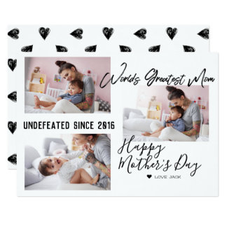 Modern Brush Script | Mother's Day Photo Collage Card