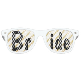 Modern brushstrokes gold stripes wedding Bride Party Shades
