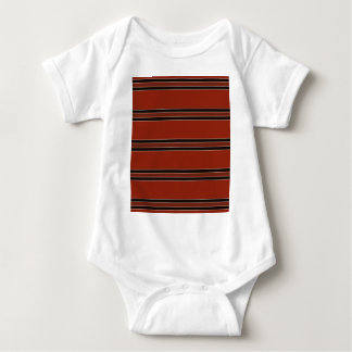 Modern Burnt Red Orange Stripe Pattern Baby Bodysuit
