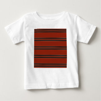 Modern Burnt Red Orange Stripe Pattern Baby T-Shirt