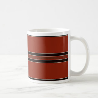 Modern Burnt Red Orange Stripe Pattern Coffee Mug
