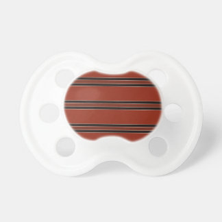 Modern Burnt Red Orange Stripe Pattern Pacifier