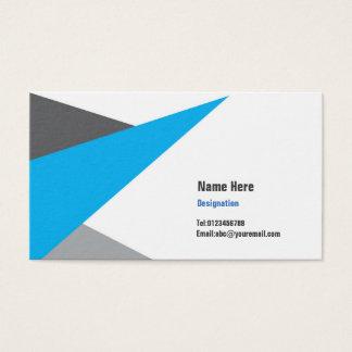 Modern Business Card-Blue & Grey Business Card