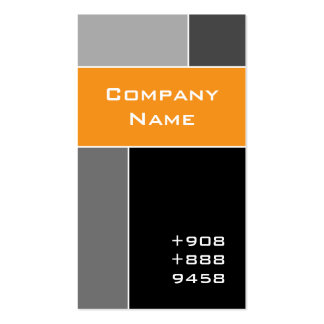 Modern Business Card Construction Orange Gray