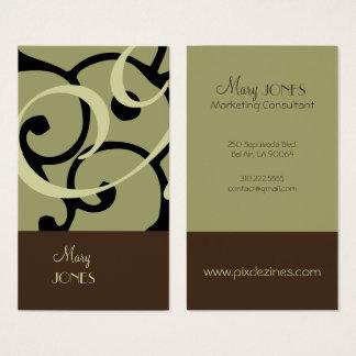 Modern Business Card en deco/DIY colors