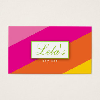 Modern Business Card Salon Spa Stripes POG