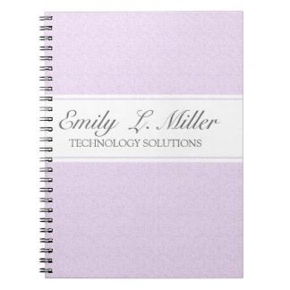Modern Business  Design Lavender Chic  Executive Notebook