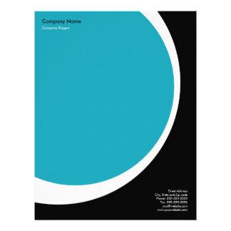 Modern Business Letterhead - Blue, Black, & White