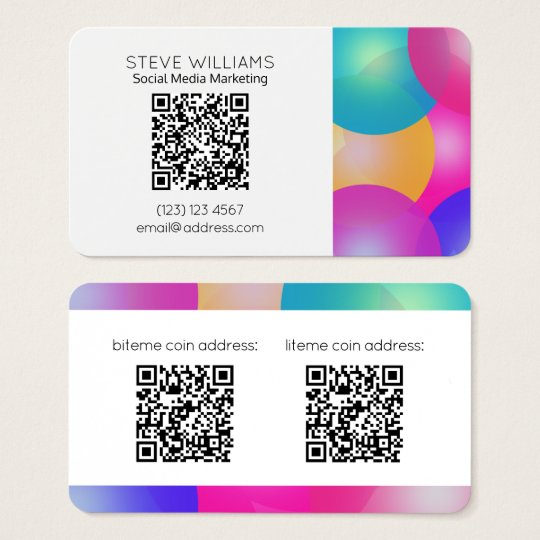 Modern business style QR code rounded style Business Card