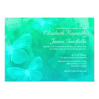 Modern Butterflies Wedding Invitations Custom Announcement