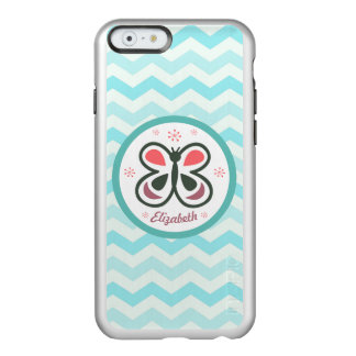 Modern Butterfly Personalized Chevron Kids Gift Incipio Feather® Shine iPhone 6 Case