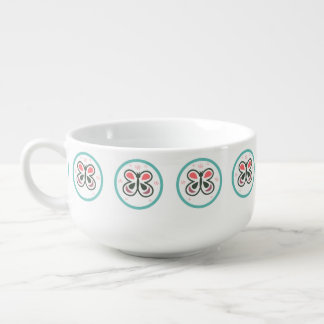 Modern Butterfly Personalized Chevron Kids Gift Soup Mug