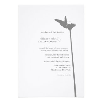 Modern Butterfly Wedding Invitation
