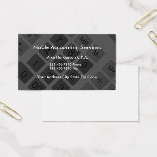 Modern Calculator CPA Accountant Business Card