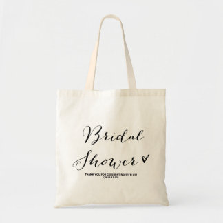 Modern Calligraphy Bridal Shower Party Favor Bag