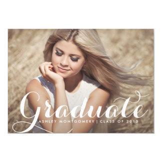 Modern Calligraphy Graduation Party Invitation