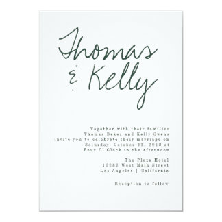 Modern Calligraphy Wedding Suite Card