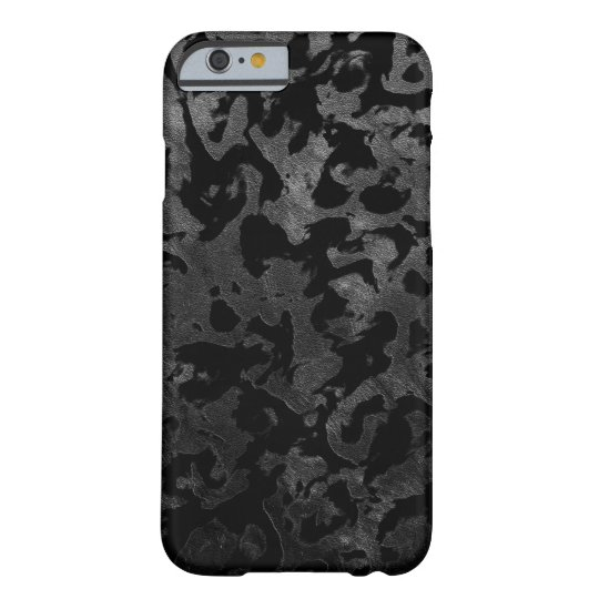 Modern Camo -Black and Dark Grey- camouflage Barely There iPhone 6 Case