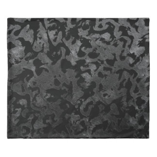 Modern Camo -Black and Dark Grey- camouflage Duvet Cover