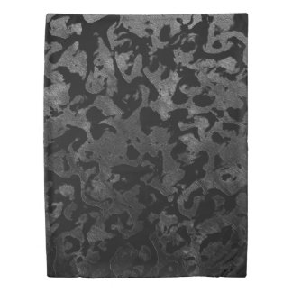 Modern Camo -Black and Dark Grey- camouflage Duvet Cover
