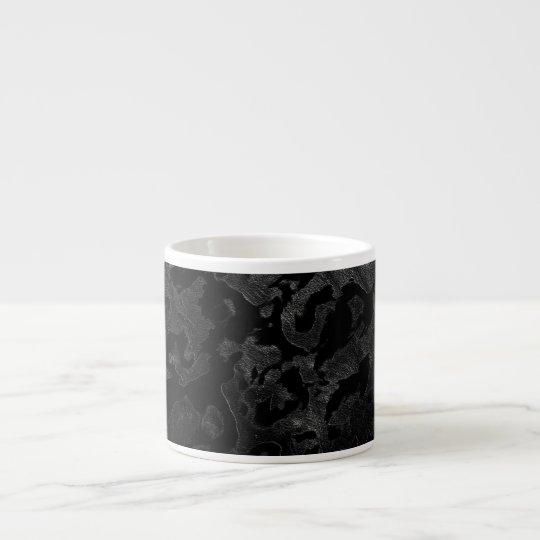 Modern Camo -Black and Dark Grey- camouflage Espresso Cup
