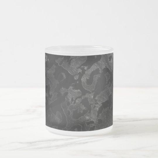 Modern Camo -Black and Dark Grey- camouflage Frosted Glass Coffee Mug