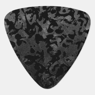 Modern Camo -Black and Dark Grey- camouflage Guitar Pick