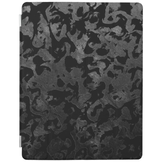 Modern Camo -Black and Dark Grey- camouflage iPad Cover