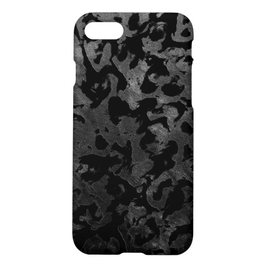Modern Camo -Black and Dark Grey- camouflage iPhone 8/7 Case