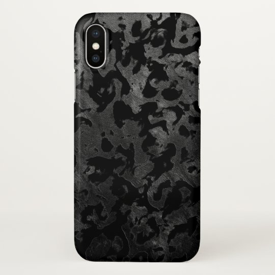 Modern Camo -Black and Dark Grey- camouflage iPhone X Case