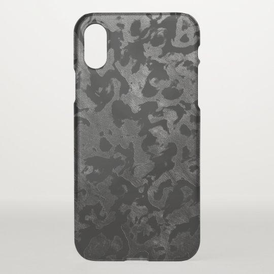 Modern Camo -Black and Dark Grey- camouflage iPhone X Case