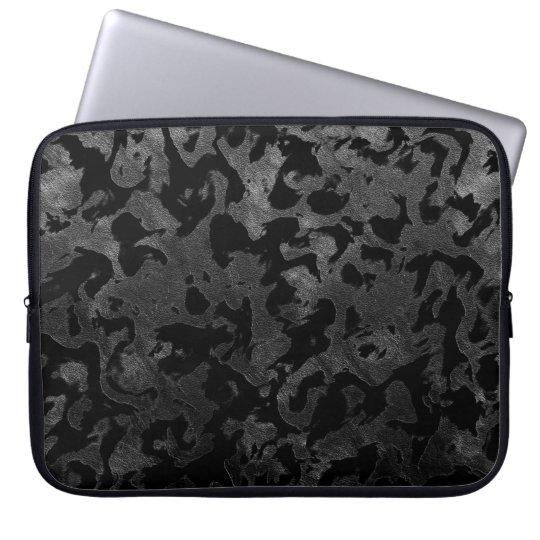 Modern Camo -Black and Dark Grey- camouflage Laptop Sleeve