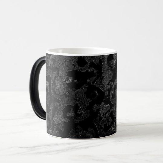 Modern Camo -Black and Dark Grey- camouflage Magic Mug