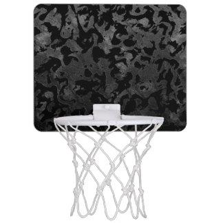 Modern Camo -Black and Dark Grey- camouflage Mini Basketball Hoop