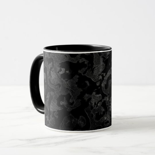 Modern Camo -Black and Dark Grey- camouflage Mug