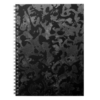 Modern Camo -Black and Dark Grey- camouflage Notebooks
